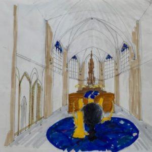 ruimtelijk aanzicht kerkkeuken